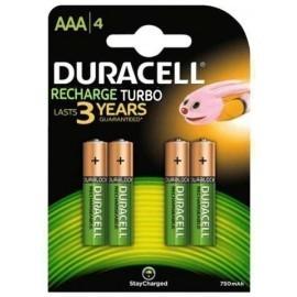 PILAS DURACELL RECARGABLES AAA 850 MAH DX2400 HR03 BLISTER DE 4