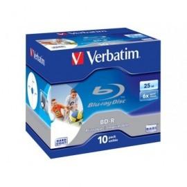 VERBATIM BD-R SL Discos Blu-Ray pack caja 10 ud 6x 25GB imprimible 43713