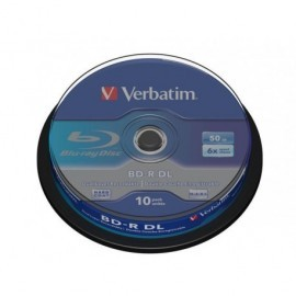 VERBATIM BD-R DL Discos Blu-Ray bobina pack 10 ud 6x 50GB 43746