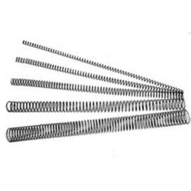 "Espiral Metalica Paso 64 (5:1"") Negro 10 Mm Caja De 200"