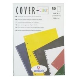 Tapa De Encuadernar Canson Cover-Color A4 Carton 300 G Azul Ultramar Caja De 50