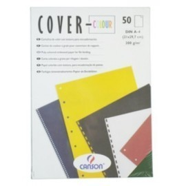 Tapa De Encuadernar Canson Cover-Color A4 Carton 300 G Negro Caja De 50