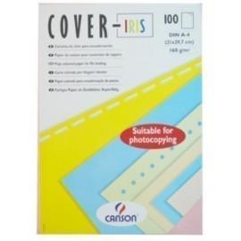 TAPA de ENCUADERNAR CANSON COVER IRIS A4 CARTULINA 160 g CREMA