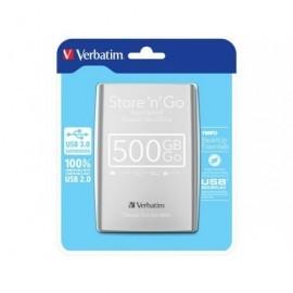 VERBATIM Disco duro portátil Store 'n' Go 500GB/USB 3.0/2,5''/plateado 53021