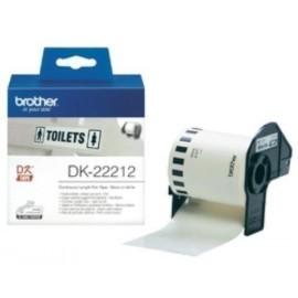 ETIQUETAS BROTHER CONTINUA PLASTICO BLANCO 62 mm ROLLO 15 24 m DK22212
