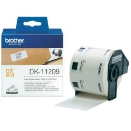 ETIQUETAS BROTHER PRECORTADA PAPEL BLANCO 29x62 mm ROLLO 800 uds DIRECCION PEQ DK11209