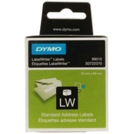 ETIQUETAS DYMO LABEL WRITER 28x89 mm PACK 2 ROLLOS 130 uds PAPEL BLANCO DIRECCION 99010