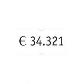 ETIQUETAS de PRECIOS PRYSE ADH REMOVIBLE 21x12 mm BLANCO ROLLO 1 000 uds