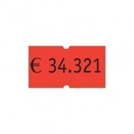 ETIQUETAS de PRECIOS PRYSE ADH NORMAL 21x12 mm NARANJA FLUOR ROLLO 1 000 uds