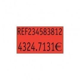 ETIQUETAS de PRECIOS PRYSE ADH NORMAL 26x16 mm NARANJA FLUOR ROLLO 1 000 uds