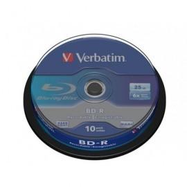VERBATIM BD-R SL Discos Blu-Ray bobina pack 10 ud 6x 25GB 43742
