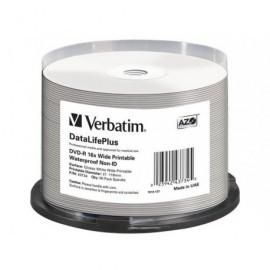 VERBATIM DVD-R Wide bobina pack 50 ud 16x 4,7GB resistente al agua imprimible 43734
