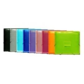 CLASIFICADOR ACORDEON OFFICE BOX PP COLORLINE 335x240mm PLUS 12 DPTOS 1 DPTO para BLOCK con RIBETE y GOMAS
