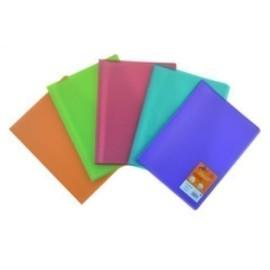 CARPETA FUNDAS TARIFARIO OLEF PP TRANS A4 20 F 5 COL azul naranja rojo verde violeta