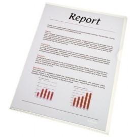 Dossier Angulo Recto Esselte Pvc 140µ Fº Liso Transparente Paquete De 100