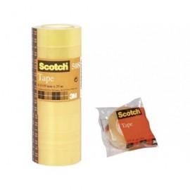 SCOTCH Cinta adhesiva tranparente 19x33 mm Acordeon 8 ud FT510097270