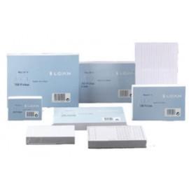 FICHAS LOAN LISAS 125x200mm N 4 paquete de 100