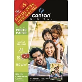 PAPEL INKJET CANSON FOTO A4 180g 10 5h GLOSSY