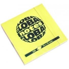 TACO NOTAS GLOBAL NOTES 100h 75x75 COLORES BRILLANTES 4x25h