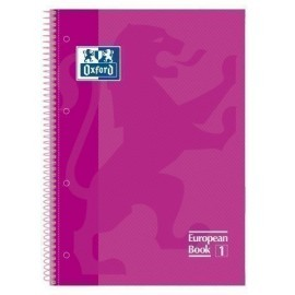 BLOCK OXFORD SCHOOL EU BOOK 1 micro tapa EXTRA A4 80h CUADRIC 5x5 90g FUCSIA