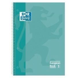 BLOCK OXFORD SCHOOL EU BOOK 1 micro tapa EXTRA A4 80h CUADRIC 5x5 90g VERDE MENTA
