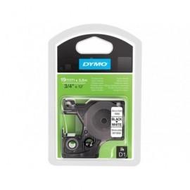 DYMO Cintas D1 Rotulacion 19mmX3,5m Negro/blanco Adhesivo permanente S0718050
