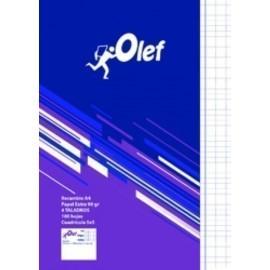 RECAMBIO OLEF A4 100h 90gr 4 TALADROS CUADRIC 5x5