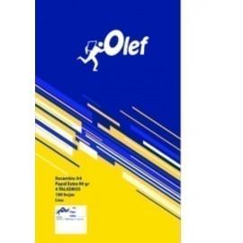 RECAMBIO OLEF A4 100h 90gr 4 TALADROS LISO