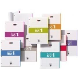 RECAMBIO MIQUEL RIUS NOTEBOOK 1 A4 100h 70gr 4 TALADROS CUADRIC 5x5 AZUL 1 color en banda