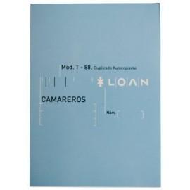 TALONARIO CAMAREROS 8 DUPLICADO LOAN 80D