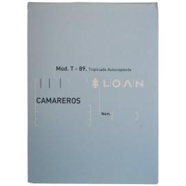 TALONARIO CAMAREROS 8 TRIPLICADO LOAN 80T