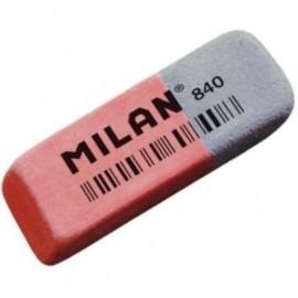 GOMA de BORRAR MILAN CAUCHO 840 TINTA y LAPIZ ud