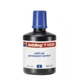 TINTA ROTULADOR EDDING FRASCO 100 ml T100 AZUL