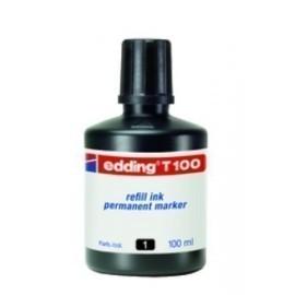TINTA ROTULADOR EDDING FRASCO 100 ml T100 NEGRO