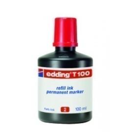 TINTA ROTULADOR EDDING FRASCO 100 ml T100 ROJO