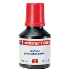 TINTA ROTULADOR EDDING FRASCO 30 ml T25 ROJO
