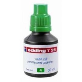 TINTA ROTULADOR EDDING FRASCO 30 ml T25 VERDE