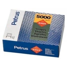 GRAPAS PETRUS CLAVADORA 530 4 mm COBREADAS caja de 5000