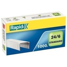 GRAPAS RAPID STANDARD 24 6 mm GALVANIZADAS caja de 1000