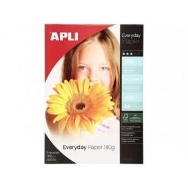 APLI Papel fotografico Everyday Paquete 100 hojas A4 180 G Brillo 11475