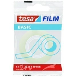 CINTA ADHESIVA TESA BASIC TRANSPARENT rollo 33x19