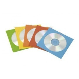SOBRES FELLOWES para CD DVD 125x125 con VENTANA CAJA de 50 COLOR