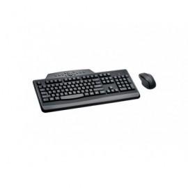 KENSINGTON Conjunto teclado + ratón inalámbricos Pro Fit Media QWERTY español usb negro K72338ESA