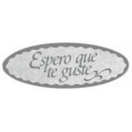 ETIQUETAS REGALO ADH ROLLO 500 uds ESPERO QUE TE GUSTE OVALADA