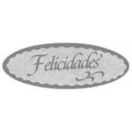 ETIQUETAS REGALO ADH ROLLO 500 uds FELICIDADES