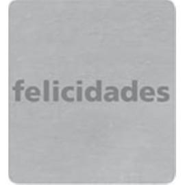ETIQUETAS REGALO ADH ROLLO 500 uds FELICIDADES CUADRADRA