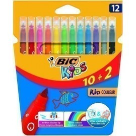 ROTULADOR FIBRA BIC KID COULEUR BLISTER de 12