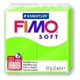 PASTA MODELAR FIMO SOFT VERDE MANZANA 57 GR