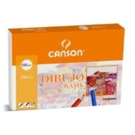 LAMINA GUARRO CANSON DIBUJO BASIK 130g A4 LISA L340N