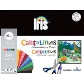 CARTULINA A4 IRIS 185g MINI PACK de 10